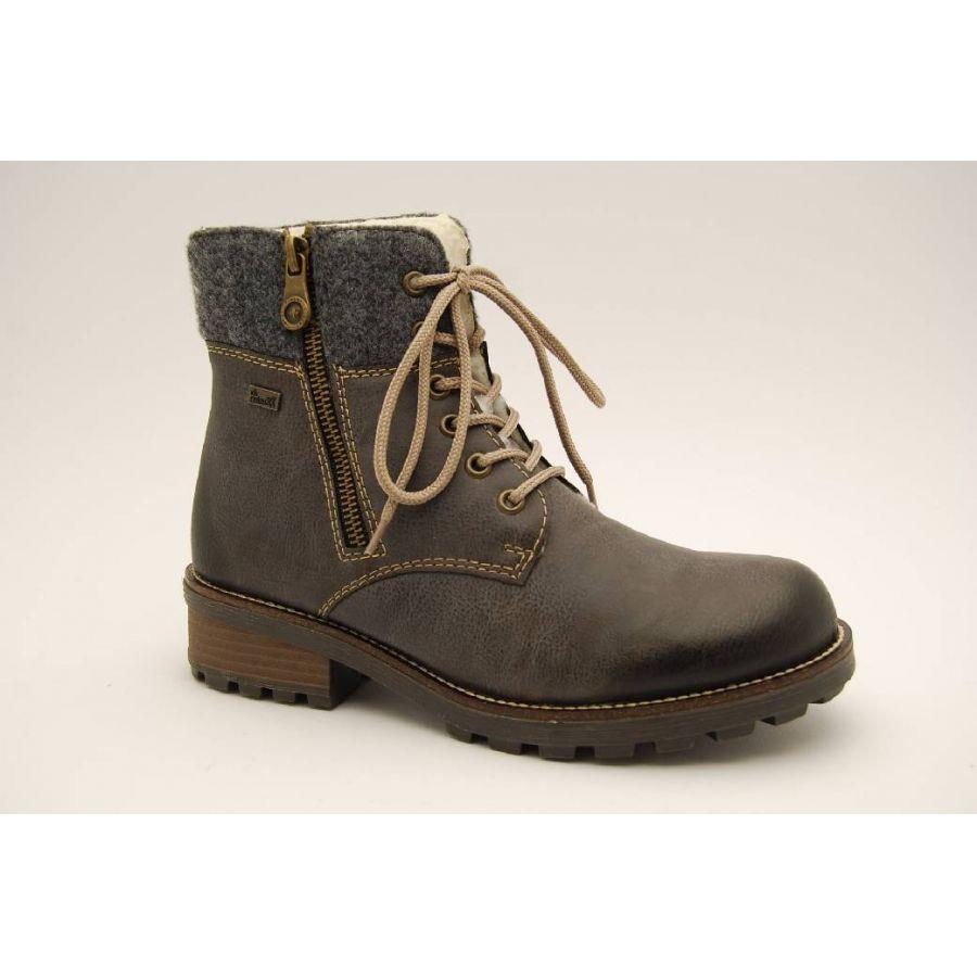 30657772d97 Anderbergs skor - RIEKER grå varmfodrad känga