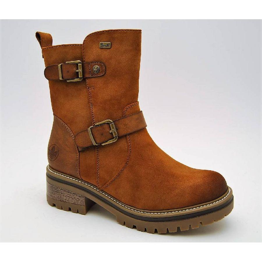 RIEKER brun boots varmfodrad
