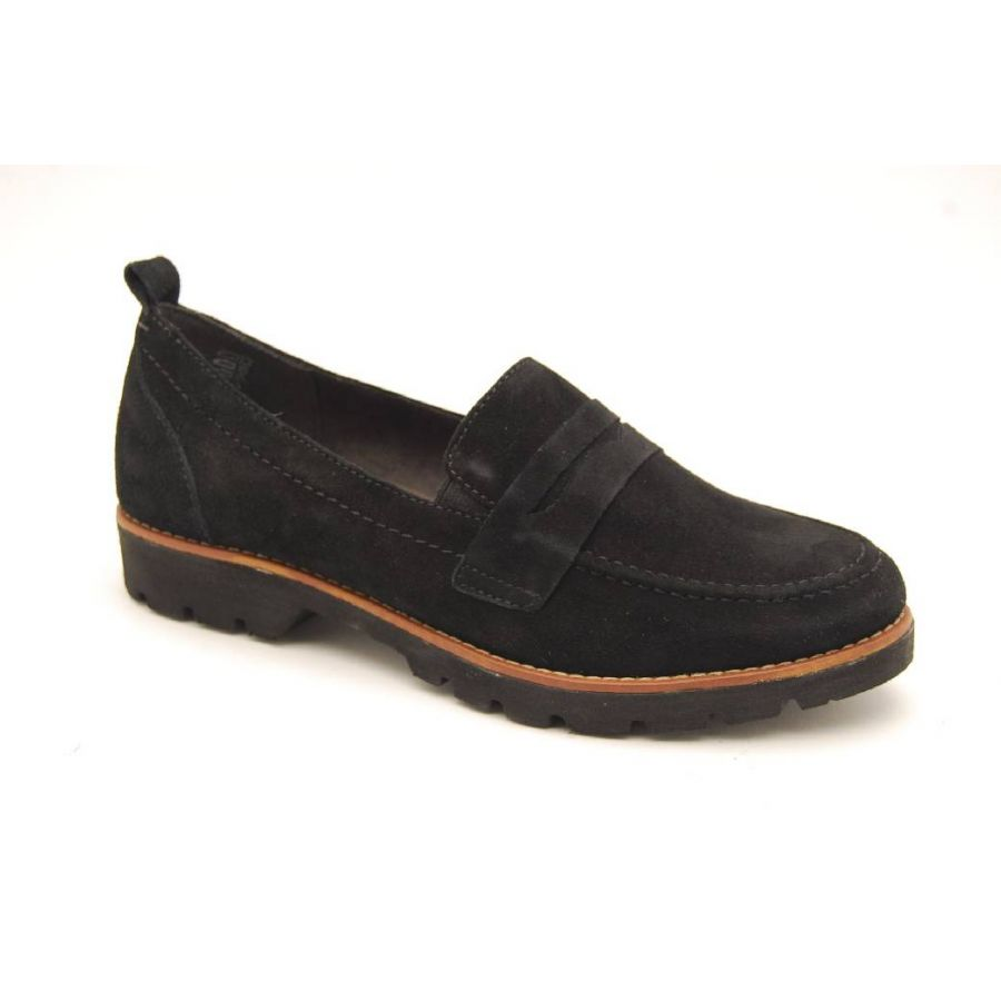 SOFTLINE svart loafer