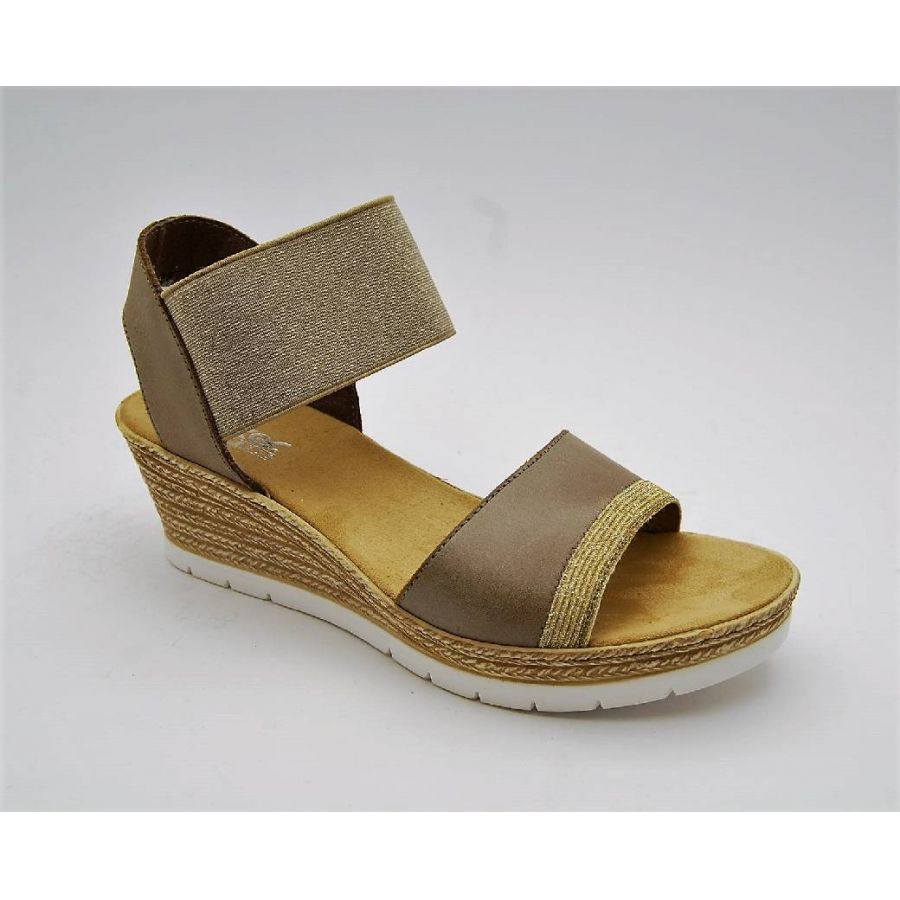 9068d255d9f Anderbergs skor - RIEKER taupe sandalett