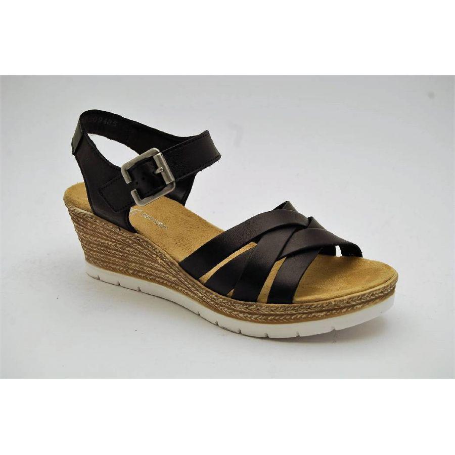 RIEKER svart sandalett