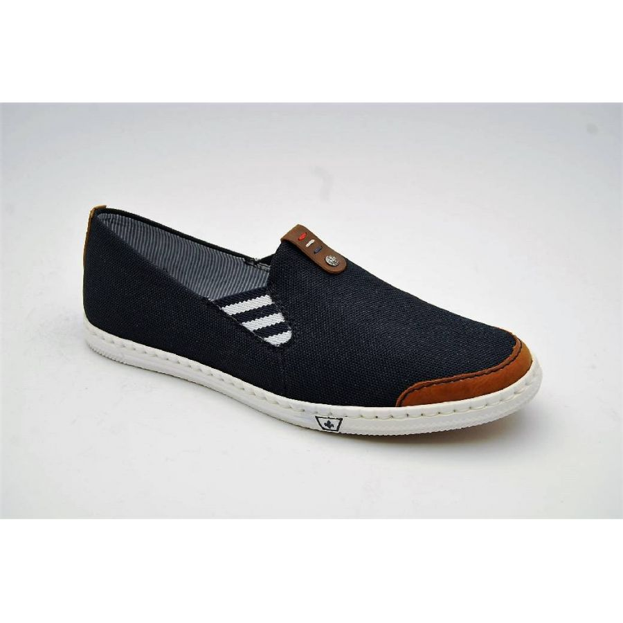 RIEKER navy slipon