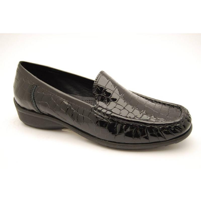 ARA svart croco loafer