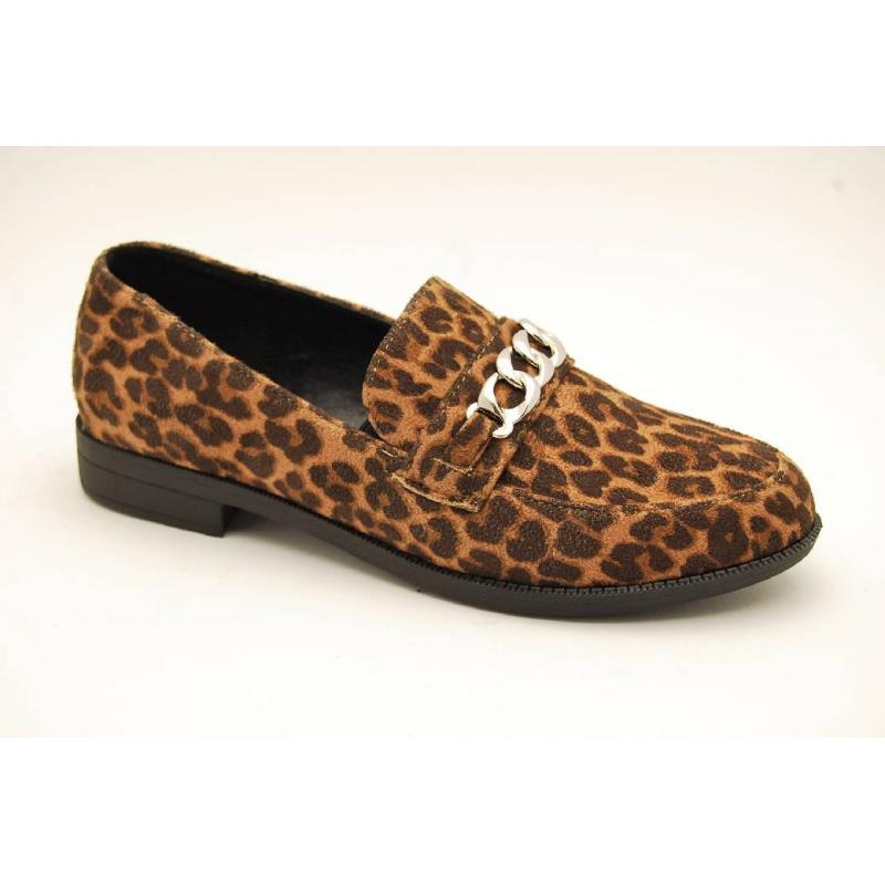 DUFFY leopard loafer